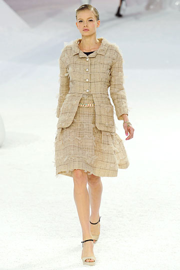 Chanel thick linen dress