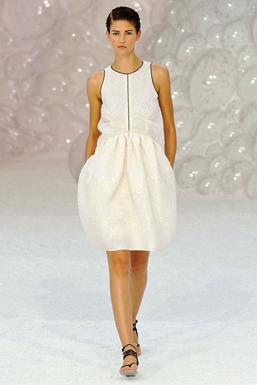 Chanel white tulip dress