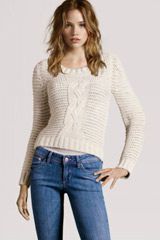 H&M white sweater knitted