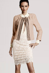 Folf outfit jacket and laced dress