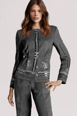 Dark grey costume folk design H&M