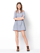 Zara grey dress TRF